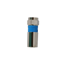 Binary™ F Male Compression Connector for RG6/U Quadshield (Nickel | Bag of 20)