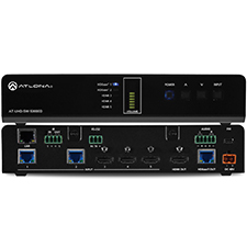 Atlona® Conferencing 4K Ultra HD HDMI Switcher with HDBaseT Inputs and Mirrored HDMI/HDBaseT Outputs - 5x1