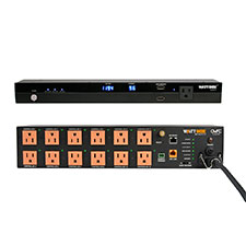 WattBox® IP Power Conditioner with OvrC Home + Faceplate Kit | 12 Controlled Outlets