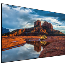 Dragonfly Thinline™ Fixed Ultra White Projection Screen - 100'