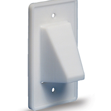 Arlington™ Reversible Low-Voltage Single Gang Entrance Plate - White