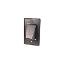 Arlington™ Reversible Low-Voltage Single Gang Entrance Plate - Black