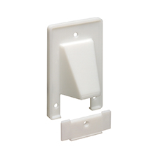 Arlington™ Reversible Two-Piece Single Gang Low-Voltage Cable Entrance Plate - White