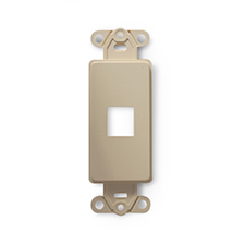 Wirepath™ 1-Port Decorative Strap - Ivory