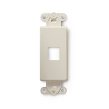 Wirepath™ 1-Port Decorative Strap - Light Almond