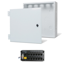 Wirepath™ 14' Enclosure Kit with Hinged Metal Door, & 1x12 RJ45 Telephone Module