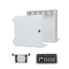 Wirepath™ 14' Enclosure Kit with Hinged Metal Door, 1x6 Telephone, and 1x8 Video Modules