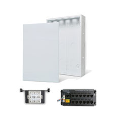 Wirepath™ 20' Enclosure Kit with Flush Metal Door, 1x12 RJ45 Telephone, and 1x8 Video Modules