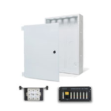Wirepath™ 20' Enclosure Kit with Hinged Metal Door, 1X6 Telephone, and 1x8 Video Modules