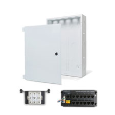 Wirepath™ 20' Enclosure Kit with Hinged Metal Door, 1x12 RJ45 Telephone, and 1x8 Video Modules
