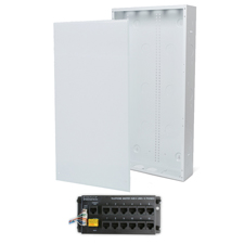 Wirepath™ 28' Enclosure Kit with Flush Metal Door, & 1x12 RJ45 Telephone Module