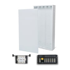 Wirepath™ 28' Enclosure Kit with Flush Metal Door, 1x6 Telephone, and 1x8 Video Modules