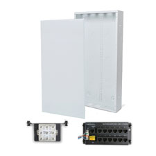 Wirepath™ 28' Enclosure Kit with Flush Metal Door, 1x12 RJ45 Telephone, and 1x8 Video Modules
