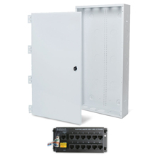 Wirepath™ 28' Enclosure Kit with Hinged Metal Door, & 1x12 RJ45 Telephone Module
