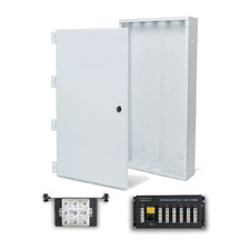 Wirepath™ 28' Enclosure Kit with Hinged Metal Door, 1x6 Telephone, and 1x8 Video Modules