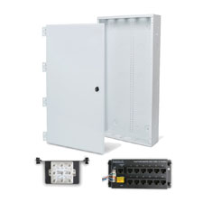 Wirepath™ 28' Enclosure Kit with Hinged Metal Door, 1x12 RJ45 Telephone, and 1x8 Video Modules