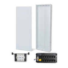 Wirepath™ 40' Enclosure Kit with Flush Metal Door, 1x12 RJ45 Telephone, and 1x8 Video Modules