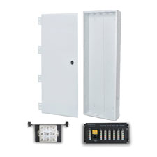 Wirepath™ 40' Enclosure Kit with Hinged Metal Door, 1x6 Telephone, and 1x8 Video Modules