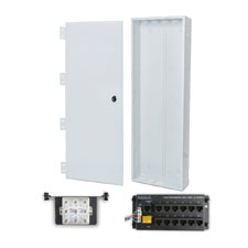 Wirepath™ 40' Enclosure Kit with Hinged Metal Door, 1x12 RJ45 Telephone, and 1x8 Video Modules