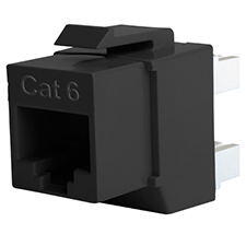 Wirepath™ Cat 6 RJ45 UTP Keystone Insert - 180 Degree (Black)