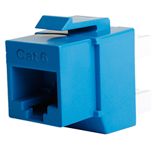 Wirepath™ Cat 6 RJ45 UTP Keystone Insert - 180 Degree (Blue)