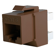 Wirepath™ Cat 6 RJ45 UTP Keystone Insert - 180 Degree (Brown)