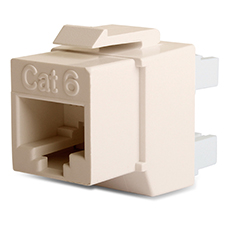 Wirepath™ Cat 6 RJ45 UTP Keystone Insert - 180 Degree (Light Almond)