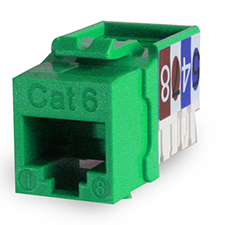Wirepath™ Cat 6 RJ45 UTP Keystone Insert - 90 Degree (Green)