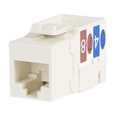 Wirepath™ Cat 6 RJ45 UTP Keystone Insert - 90 Degree (Light Almond)