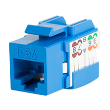 Wirepath™ Cat6a RJ45 UTP Keystone Insert - 90 Degree – Blue