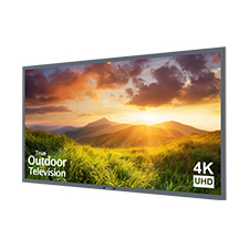 SunBriteTV® Signature Series 4K Ultra HD Partial Sun Outdoor TV - 55' (Silver)