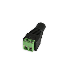 Wirepath™ Surveillance DC Power Plug with Screw Terminals - Female (Pack of 10)