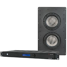 Episode® In-Wall Subwoofer with Dual 8' Woofers and 500W Front Panel Display Amplifier - Kit