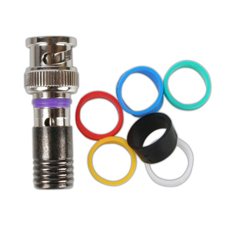 Binary™ BNC Male Compression Connector for Standard and Quadshield RG59 -75 Ohm (Bag of 20)