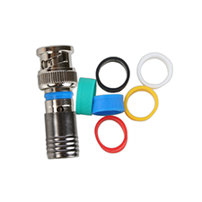Binary™ BNC Male Compression Connector for RG6 Quadshield - 75 Ohm (Bag of 20)