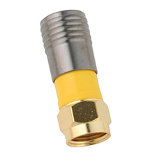 Binary™ F Male Compression Connector for RG6/U (Gold | Bag of 20)