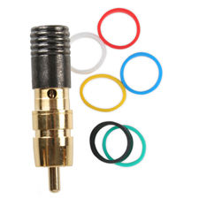 Binary™ RCA Male Compression Connector for MINI RGB 75 Ohm - Gold Plated  (Bag of 20)