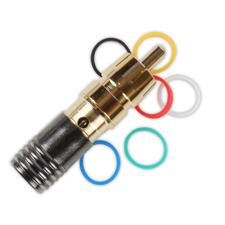 Binary™ RCA Male Compression Connector for Standard and Quadshield RG59 75 Ohm - Gold Plated (Bag of 20)