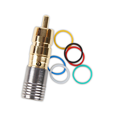 Binary™ RCA Male Compression Connector for RG6/U - 75 Ohm - Gold Plated (Bag of 20)