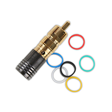 Binary™ RCA Male Compression Connector for RG6 Quadshield 75 Ohm - Gold Plated (Bag of 20)