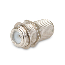 Dolphin Components® 3 Ghz-Rated In-Line F Female Coupler - Pack of 10
