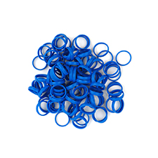 Planet Waves Color Rings BC/ST/ZM (Blue | Pack of 100)