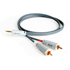 Binary™ Cables B3 Series 3.5mm Mini Stereo to Dual RCA Male - 1.6 Ft (.5 M)