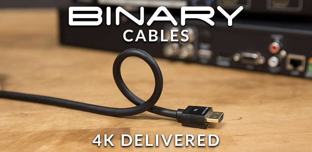 Binary cable laying on table