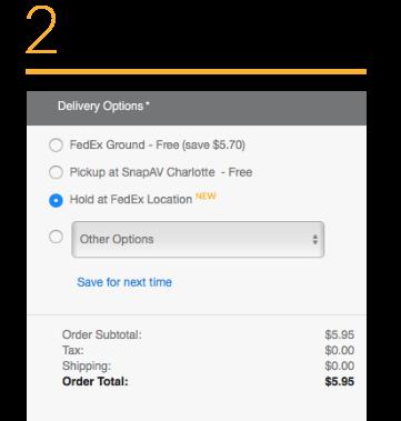 SnapAV - FedEx Hold At Location - Category