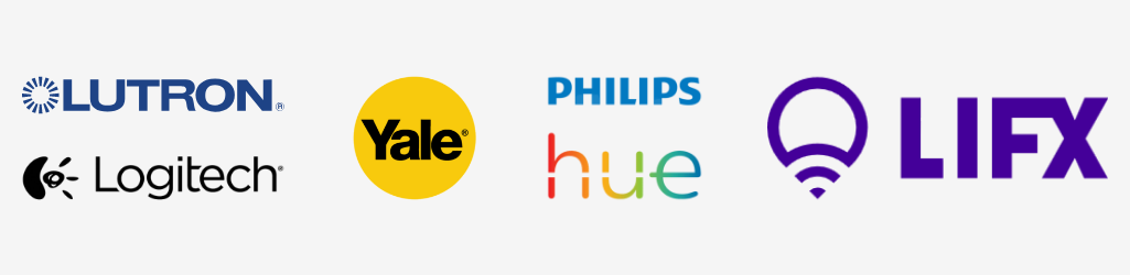 logo strip of brands that work with nest