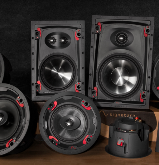 Family shot of the new Signature by Episode speakers