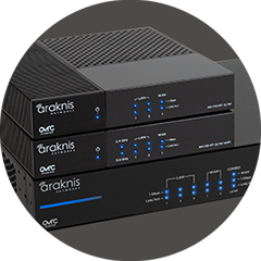 Stack of Araknis X10 routers-perfect for any networking job