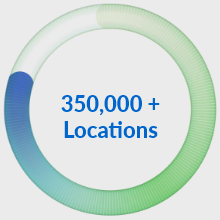350,000+ LLocations