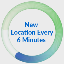 New location every 6 minutes